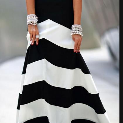 Women Elegant Summer Black and whit..