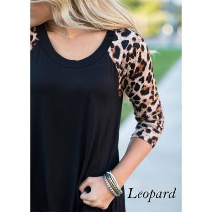 2017 Autumn Womens Leopard Long Sle..