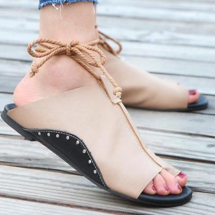 Summer Sandals Women Flats Ladies S..