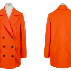 Orange Women Casual Office Chic Tre..
