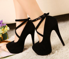 New Strappy Heels Pu..