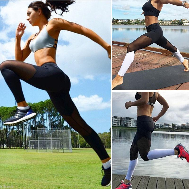 Womens Hot Sale Mesh Pathwork Yoga Sport Running Brethable Pants