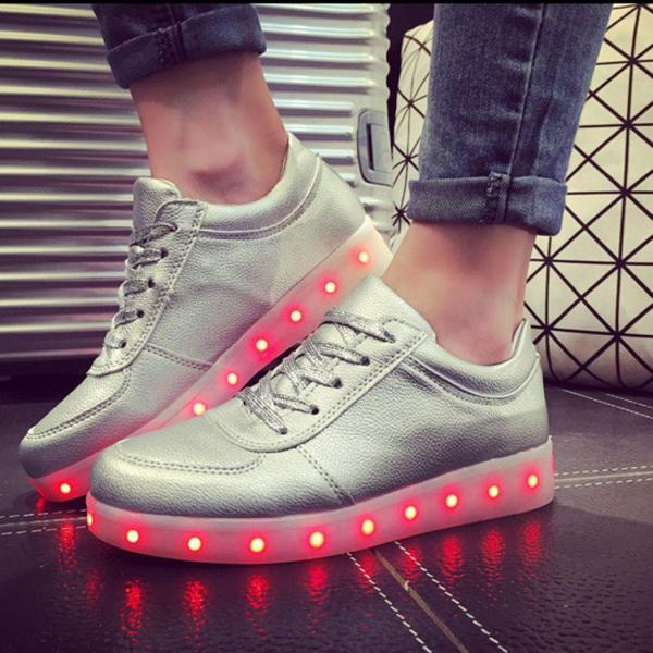 Unisex Cool Led Light Lace Up Luminous Sneakers