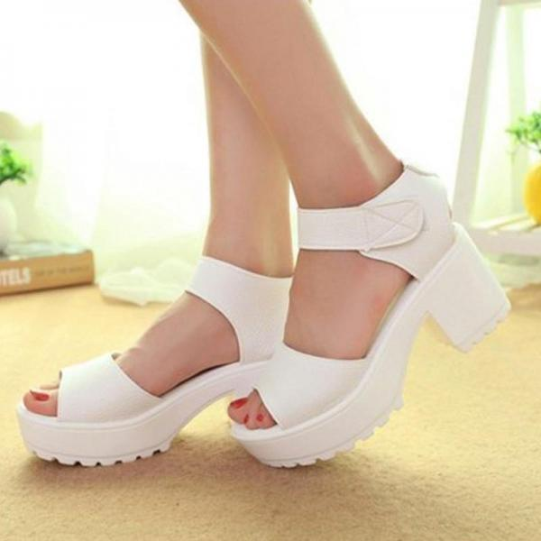 Sandals Women Casual Platform High Heels Lightweight Open Toe