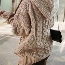 Hooded Cardigan Coat Thickening