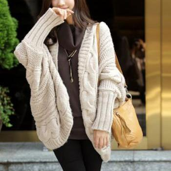 Free Shipping Unclosed Batwing Sleeve Cardigans